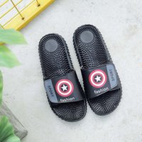 Wholesale Massaging Shoes Slippers - Tide brand 2017 New 10 kinds of styles summer outdoor men's massage slippers British fashion anti-skid men flip flops&men casual shoes