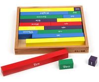 jouet de bloc de tige achat en gros de-Nouveau Bois Blocs Jouet Bébé Jouet Numérique Rod Tiges Montessori Math Éducation de la Petite Enfance Éducation Préscolaire Enfants Jouets