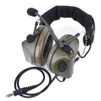 headsets airsoft großhandel-Tactical Headsets Z041 Noise Cancelling Kopfhörer Airsoft Paintball Schwanenhalsmikrofon Jagd Schießen Kopfhörer