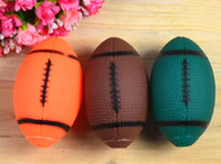 Wholesale Dog Ball Toy Squeak - 10cm Pet Dog And Cat Toy Gum Protection Latex Elastic Balls Squeak Toys Interesting Tennis Football Tooth Cleaning