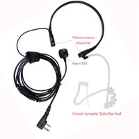 Wholesale Radio Headset Throat Mic - 10PCS Throat MIC Vibration BAOFENG Headset For Radio UV 5R 5RE PLUS Wouxun Wireless Earpiece Walkie Talkie Microphone Headset