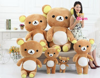 Wholesale Rilakkuma Bear Plush Doll - 1pcs Rilakkuma plush toy bear doll Easy bear teddy bear stuffed toy wedding gift doll for kids toys girls