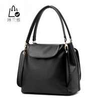 Wholesale Classic Fashion Handbags - Wholesale-LINLANYA 2016 Fashion Three layer soft bag Hasp classic handbags women comfortable shopping bag office lady commuter bag Z-31