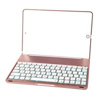 Wholesale Hot Selling Mini Ipad Case - Hot sell Wireless Bluetooth Keyboard F8Spro LED Backlit Keyboard Case for iPad Pro 9.7 Inches(Rose Gold) and Ipad Air Mini Keyboard for nigh