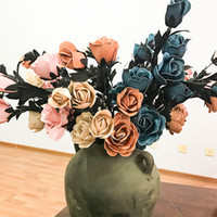 Wholesale European Style Home Decoration - 72 cm Fake Flowers 6 Color European Style Vivid Simulation Artificial Flowers Home Party Dinning Table Decoration