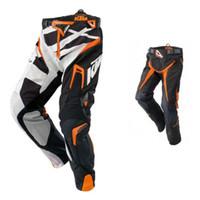 Wholesale Motocross Trousers - free shipping High Quality Men KTM Racetech Pants Motorcycle Dirt Bike MTB DH MX Riding Trousers KTM motocross racing pants