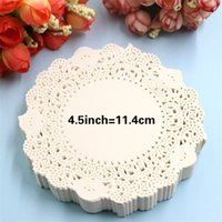"Wholesale Card Bag Diy - Wholesale- SS1621 4.5"" Vintage napkin Hollowed Lace Paper mat Doilies Crafts DIY Scrapbooking Card Making Wedding Decoration(180pcs bag)"