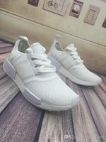 Wholesale Cheap Shoes Colors - 2017 Discount Cheap Wholesale NMD Runner Primeknit Running Shoes Men Women New High Quality 14 Colors Cheap All White Sneakers Free Shipping
