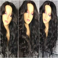 Wholesale Heavy Density Full Lace Wigs - Heavy Density Full Lace Wigs   Human Hair Lace Front Wigs Baby Hair 8A Top Quality Unprocessed Brazilian Body Wave Wig For Black Women