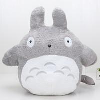 Wholesale Movie Large Plush - 65cm Large Size Plush Doll My Neighbor Totoro with zongzi totoro as back cushion Soft Stuffed Plsu toys dolls