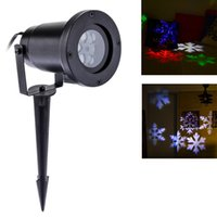 Wholesale Snowflake Xmas Decorations - 1PC Outdoor Laser Lights Waterproof Snowflake Led Projector Lights RGB Lawn Spotlight for Xmas Holiday Garden decoration