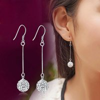 Long Tassel Drop Earrings pour les femmes Rhinestones Pendentif à boucles d'oreille brillantes Ear Earrings Elegant Party Wedding Earrings
