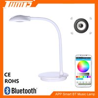Wholesale Light Drawing Tables Wholesale - 2017 Table Lamps Factory APP Bluetooth speaker RGBW color changing smart music LED table light Fashion table lamps for bluetooth