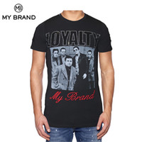 Wholesale Family Tees - MY BRAND LOYALTY FAMILY Men T-shirt Short Sleeves Letter and Gangster Face Graphic Cotton Prints Tshirt Round Neck Slim Fittings Tee For Man