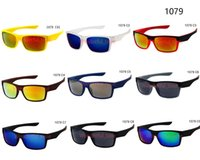 Wholesale titanium sunglasses wholesale - summer men popular colorful sunglasses driving glasses women Cycling Outdoor Sun Glasses square frame riding glasses 9 colors free shipping