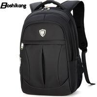 mochila mini oxford al por mayor-Al por mayor- Boshikang hombres mochila de viaje de moda Oxford cremallera mochila de negocios de alta calidad mochila escolar nueva mochila grande Daypack