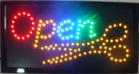 online shopping Indoor Led Signage - 2016 direct selling custom led sign 10X19 inch indoor graphics Ultra Bright flashing store open signage free shipping
