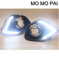 Wholesale Led Fog Lights For Cars - Car styling 2pcs LED Daytime Day Fog Lights DRL Run lamp Fit for Mitsubishi ASX Outlander 2013+
