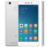 Wholesale Android Smart Phone 5inch - Original Xiaomi Redmi 3S Mobile Phone 4100mAh Fingerprint ID Snapdragon 430 Octa Core 5inch 2GB 3GB RAM 16GB 32GB ROM 13MP Camera Metal Body