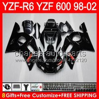 Wholesale yamaha r6 fairing kit black for sale - Glossy black gifts For YAMAHA YZFR6 YZF600 HM1 YZF R6 YZF R YZF R6 Fairing Kit Gloss black