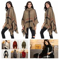 Tassel Schal Poncho Mode Fransen Wraps Frauen Strick Schals Winter Cape Solid Shawl Loose Cardigan Umhang Decken Mantel Sweate 50 PCS YYA505