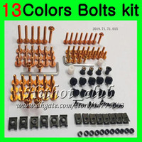 Wholesale Screws R6 - Fairing bolts full screw kit For YAMAHA R6 YZFR6 03 04 05 YZF-R6 YZF600 YZF 600 YZF R6 2003 2004 2005 Body Nuts screws nut bolt kit 13Colors