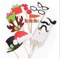 Gros-17Pcs   Set Coloré Fun Moustache à Lèvres Creative Photo Booth Props  décoration de fête de mariage Anniversaire de Noël nouvel an faveurs de l   ... 1d359b1a71d