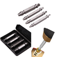 4Pcs / Set Double Side Damaged Screw Extractor Set di punte per trapano Rotture danneggiate Rimozione Power Tools Accessori Screw Extractor