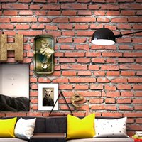 Vintage 3D Brick Wall Wallpaper Roll PVC wasserdicht Red Brick Papel De Parede Cafe Restaurant Wohnzimmer Wand Papier Home Decor