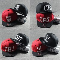 Wholesale Children Hip Hop Hat - 2017 New Summer Children Ronaldo CR7 Baseball Cap Hat Boys Girls MESSI Snapback Hats Kids Sports Neymar NJR Hip Hop Caps