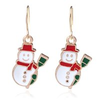 Wholesale Christmas Earings - Christmas gift snowman earrings for woman bijoux femme stud earings boucles d'oreille cute christmas earrings lovely gift