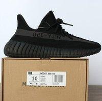 Wholesale Black White Keyrings - NEW SPLY 350 V2 boost BY9621 Black gary DA9572 Dark Green Zebre Triple White Back Bred running shoes (keyring socks bag receipt box