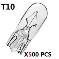 Wholesale 5w W5w - new 500 PCS T10 W5W 194 501 8000K 5W wedges clear car light source Halogen Bulb Signal Interior Car light Lamp car light source