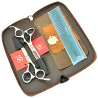 profesyonel saç kesme makası setleri toptan satış-5.5 Inç 6.0 Inç Meisha Saç Makas Seti JP440C Profesyonel Kuaförlük Makas Sıcak Saç Kesme Makası İnceltme Makas, HA0261