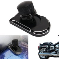 Wholesale King Screws - Silver Side Edge Deep Cut Seat Bolt Tab Screw Mount Knob Cover Nut For Harley Touring Fatboy Road King Softail Street Glide C 5
