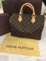 Wholesale Stone Cell Phones - Fashion Women Bag Shoulder Bags Brand L Designer Lous V Speedy Mono Alma Leather Handbags gram Vutton Ladies G2J Tote Zipper Bags