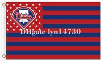 Wholesale Phillies Flag - Philadelphia Phillies US star stripe flag and logo flag MLB flag 90x150cm polyester digital print banner with 2 Metal Grommets 3x5ft