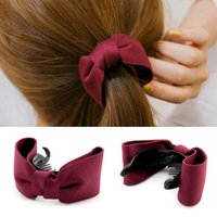 Wholesale Hair Trimmer China - Hot sale New hair trim hairpin cauda equina button bow tie folder clip clip banana clip ornaments FJ025 mix order 60 pieces a lot