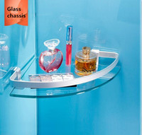 Wholesale Bathroom Accessories Glass Shelf - Space Aluminum Bathroom Frame a layer of Film Glass wall Shelf New Design Accessories Basket Suitable for Hotel Home Building materials
