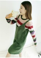 Wholesale Korean Cashmere Sweater Dress - 2017 New Korean Dress Version Of The Long Vest Sweater loose knit. All-match Rabbit Spring and Autumn