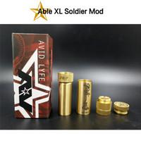 ingrosso ottone in grado mod-Mod Inex Soldier Mod AV Avid Lyfe Mod meccanico 18650 batteria in ottone per sigaretta elettronica Materiale DHL Free