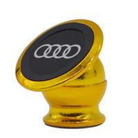 iphone 24k venda por atacado-Atacado-24k chapeamento de ouro suporte do telefone de metal para iphone xiaomi design universal magnética montagem do carro relógio gps ímã suporte do telefone móvel