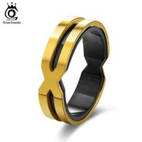 Wholesale Ring X Shape - Cool Stainless Steel Rings For Men Women Letter X Shape Gold-color Men Rings Punk Style Unisex Fashion Jewelry GTR30