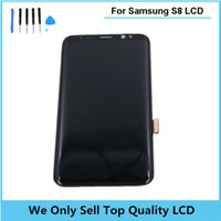 Wholesale Super Lcd - 2017 New Super Amoled for Samsung Galaxy S8 LCD Display Touch Screen Digitizer Assembly Original Lcd for S8 Free Shipping +Tools
