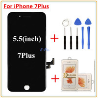 Wholesale iphone digitizer film for sale - 1Pcs For iPhone Plus LCD Quality AAA Complete Display Digitizer Full Assembly With Good D touch Open Tools D protective film