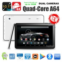 Wholesale Google Android 256mb Ram - Wholesale- New Google Android 6.0 OS 10 inch A64 Quad CoreTablet PC 4K Video with HDMI Port 2GB RAM 32GB ROM Gifts MID DHL Free Shipping