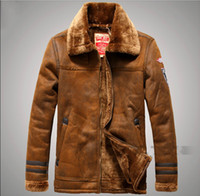 Wholesale Leather Jacket For Large Men - Winter leather jackets Men Faux Fur Coats casual motorcycle leather jacket Thicken velvet Outwear Overcoat For Man large size