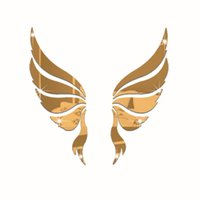 Wholesale Marriage Life - 35x35cm 3D wall stickers acrylic crystal angel wings background stickers Mirror stickers decorate marriage room TV sofa backdrop