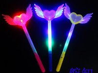 Wholesale Toy Atmosphere - LED luminous fluorescence flash rod ground stall the atmosphere of the concert atmosphere support toy hollow pentagram Christmas party