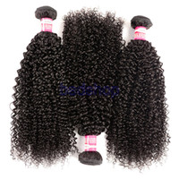 Wholesale 8a grade european human hair extensions resale online - Brazilian Indian Kinky Curly Hair Weaves Grade A Unprocessed Deep Curly Wave Hair Kinky Curly Human Hair Extensions Bundles